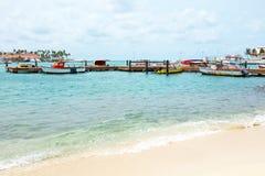 Harbor on Aruba island Stock Photo