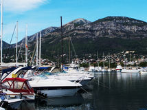 Harbor in Bar Montenegro Royalty Free Stock Photography