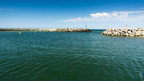 Harbor basin in Lohme. At baltic sea Stock Images
