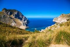 Harbor with beach Cala Figuera, Mallorca Stock Photography