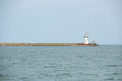 Harbor Beach Lighthouse, built in 1858 Stock Images