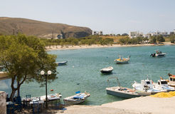 Harbor beach Pollonia Milos Cyclades Greek island Stock Image