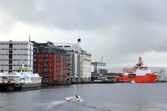 Harbor of Bergen in summer. Stock Images