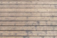 Harbor board and deck path made of wood in Rhodes at sunny summer. Day Stock Images