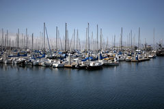 Harbor Boats. Docked at the marina Royalty Free Stock Image