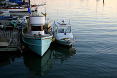 Harbor Boats. Boats docked in a local harbor stock photo