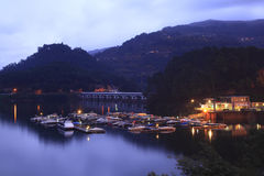 Harbor with boats at Geres. Nort portugal stock photography