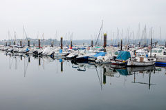 Harbor with boats Royalty Free Stock Images