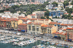 Harbor with boats in Nice, France Royalty Free Stock Photo