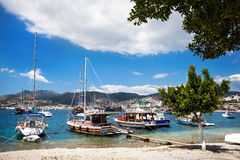Harbor with boats in Turkey Royalty Free Stock Photo