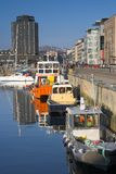 The harbor of Bodo - Norway Royalty Free Stock Photography