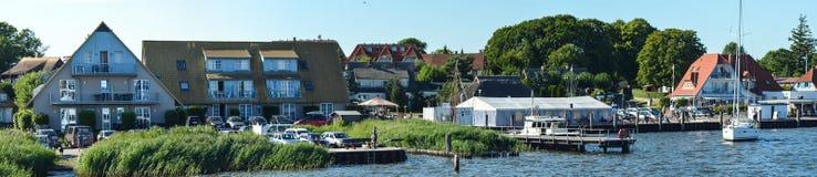 Harbor of Breege on Ruegen Island at Baltic Sea Stock Images