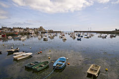 Harbor in Bretagne Stock Photos