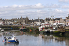 Harbor in Bretagne at low tide time Royalty Free Stock Images