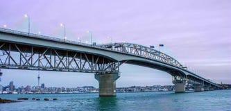 Harbor bridge. Auckland harbor bridge is the most busy motorway in New Zealand Royalty Free Stock Photos