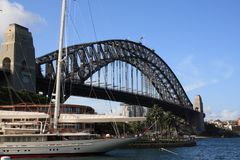 Harbor bridge in Sydney Royalty Free Stock Photos
