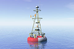 Harbor buoy. Ocean landscape with harbor buoy Royalty Free Stock Photography