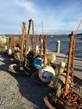 Harbor buoys, Essex Connecticut Stock Photography
