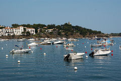Harbor of Cadaques Costa Brava Royalty Free Stock Images