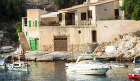 Harbor of Cala Figuera, fishermen village, Mallorca Stock Photos