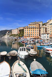 Harbor in Camogli, Italy Royalty Free Stock Images