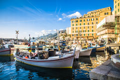 Harbor in Camogli Stock Photo