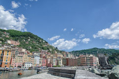 Harbor of Camogli in summer Stock Photography