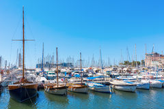 Harbor of Cannes, Cote dAzur, France Royalty Free Stock Photos