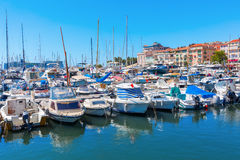 Harbor of Cannes, Cote dAzur, France Stock Image