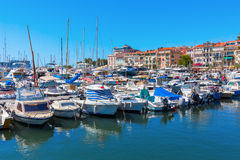 Harbor of Cannes, Cote dAzur, France Royalty Free Stock Photo