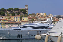Harbor of Cannes in France Royalty Free Stock Photos