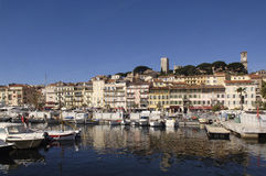 Harbor of Cannes, French Riviera,. France Stock Photography