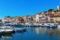 Harbor of Cannes, French Riviera, France Royalty Free Stock Image