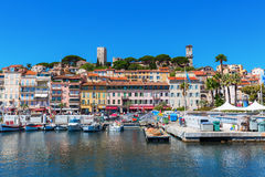 Harbor of Cannes, French Riviera, France Stock Images