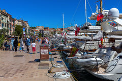 Harbor of Cannes, French Riviera, France Royalty Free Stock Photo