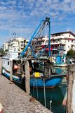 Harbor in Caorle Italy Stock Photos