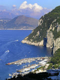 The harbor of Capri island, Italy. Royalty Free Stock Image