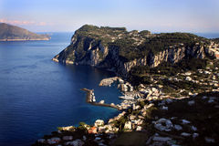 Harbor of Capri, Italy. Royalty Free Stock Images