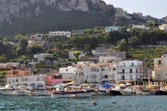 Harbor in Capri, Italy Stock Photo