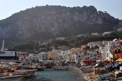 Harbor in Capri, Italy Royalty Free Stock Photos
