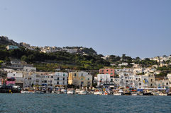 Harbor in Capri, Italy Stock Photography