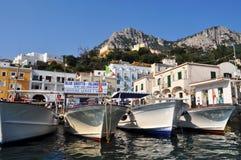 Harbor in Capri, Italy Royalty Free Stock Photo