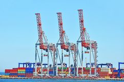 Harbor, cargo, crane, container, ship, shipping, s Stock Photography