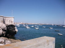 Harbor of Cascais on a sunny afternoon (Portugal). Picture of Cascais on a sunny afternoon (Portugal Royalty Free Stock Photos