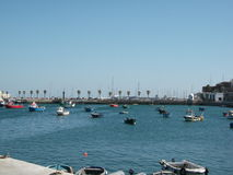Harbor of Cascais on a sunny afternoon (Portugal). Picture of Cascais on a sunny afternoon (Portugal Royalty Free Stock Photo