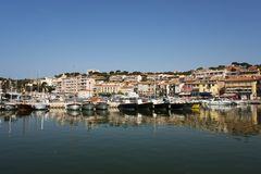 The harbor of cassis. France. Stock Images