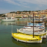 The Harbor in Cassis Stock Photos