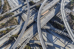Harbor and Century Freeway Interchange in Los Angeles Royalty Free Stock Image