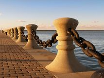 Harbor chain Stock Images