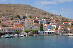 The harbor of Chalki Royalty Free Stock Photo